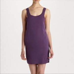 Alice + Olivia Purple Slip On Cocktail Dress